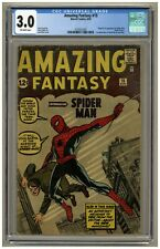 Amazing Fantasy 15 (CGC 3.0) OW pgs Marvel Comics 1962 1st SPIDER-MAN! (j#1955)