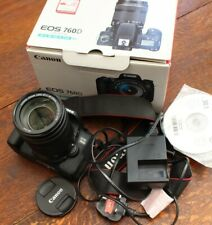 Canon EOS 760D DSLR with 18-135 stabilized lens