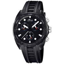 Relojes de pulsera Chrono de acero inoxidable de goma