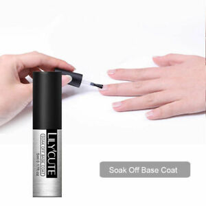 Nail No-wipe Top Coat & Base Coat UV Gel Polish Soak Off Gel UV/LED LILYCUTE