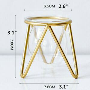 Flower Vases Gold Centrepiece With Metal Stands Set Tall Short Decor Tabletop