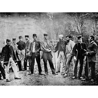 Golf Tournament 1867 Leith Links Old Photo Canvas Art Print Poster