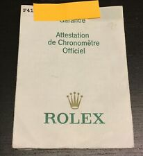 certificato garanzia Rolex Explorer 16570.
