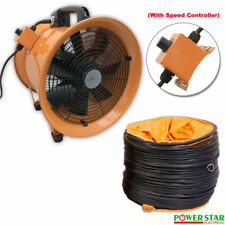 Portable Ventilator Axial Blower Workshop Extractor Fan Speed  Controller 12""