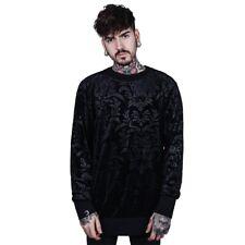 Killstar Gothic Goth Okkult Unisex Samt Pullover Sweatshirt - Cthulhu