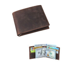 Jahrgang Herren Echtes Leder Bifold Brieftasche Geldbörse Kreditkarteninhaber