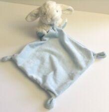 Tex Baby Bunny Security Blanket Blue Polka Dot Knots Rabbit Lovey