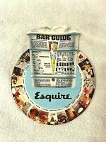 Esquire 1960's Vintage Bar Guide Mixed Drinks Made Easy Recipe Wheel Collectible