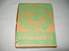 10 VINTAGE SHINY BRITE GLASS CHRISTMAS ORNAMENTS / ORIGINAL BOX
