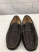 Polo Ralph Lauren Brown Men's Leather Casual Driving Loafers Moccasin Sz 10.5D