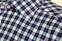 ETON OF SWEDEN  Shirt Slim Fit Trunk Club Blue Plaid Spread Collar Cotton 151/2
