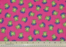 1/2 yard cotton quilt fabric Green Frogs toads Oakhurst Textiles novelty sewing