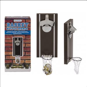 Magnet - Wand - Flaschenöffner Basketball Kapselheber Öffner Bieröffner mit Netz
