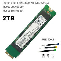 """2TB SSD Solid State for 11"""" & 13"""" MacBook Air Late 2010 Mid 2011 /A1370 A1369"""