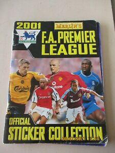 Merlin FA Premier League 2001 Incomplete Album 383/408 93% Complete + 6 gold