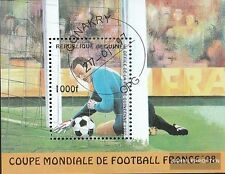 Guinea Block506 fine used / cancelled 1997 Football-WM in France