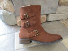 NEW STEVE MADDEN ALTTA RUST SUEDE MID BOOTS WOMENS 9.5 GENUINE SUEDE LEATHER