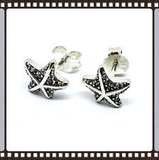 Pandora Silver Tropical Star Fish Earrings S925 ALE