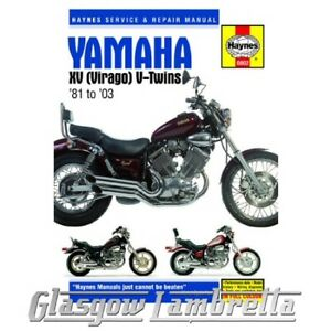 Haynes Service & Repair Manual 0802 YAMAHA XV VIRAGO (1981-2003)