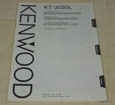 Kenwood KT-3050L Bedienungsanleitung mehrsprachig (auch in Deutsch)