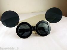 New Sunglasses Flip Up Round Shades Mickey Mouse Lady Girl Gaga Super Star Black