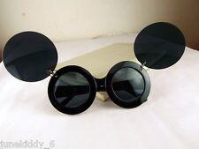 New Sunglasses Flip Up Round Shades Mickey Mouse Lady Gaga Super Star Black