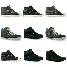 KIDS/JUNIOR BRITISH KNIGHT ROCO FOLD OVER PU HI TOP SHOES TRAINERS SHOES LACE