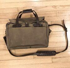 Filson Original Briefcase 257 Commuter Twill Oiled Canvas Laptop Messenger Bag