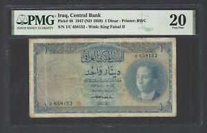 Iraq One Dinar 1947(ND 1959) P48 Very Fine