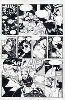 ADAM HUGHES ORIGINAL COMIC ART - PENTHOUSE COMIX PAGE (Great Condition See Scan)