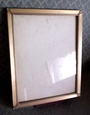 vintage Embossed Ornate metal and glass Picture Frame : 10 x 8 VERY pretty !!!