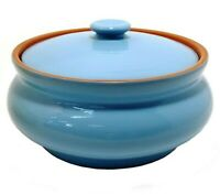 Ceramic Tureen Oven Dish with Lid. Oven Cooking Baking Pot Clay Stoneware 42 oz