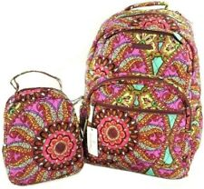 Vera Bradley Resort Medallion Large Backpack & Lunch Bunch School Set NWT $174