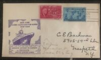 1946 New York USA Cover Maiden Voyage SS America US Lines Ship to Europe