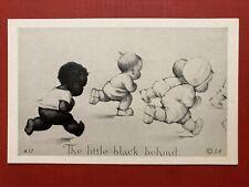 1920s A LITTLE BLACK BEHIND Americana postcard by Charles Twelvetrees NM/MINT!!!