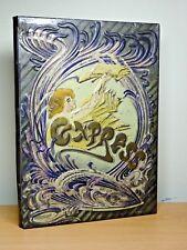 RARE c1920 STUNNING Art Deco Antique Tin Book Case BEAUTIFUL Metal Cover HIDDEN!