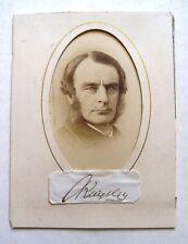 1860s CHARLES KINGSLEY carte-de-visite AUTOGRAPH Water Babies Author CDV Signed
