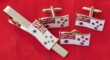 ROYAL AUSTRALIAN NAVY RAN FLAG JEWELLERY  SET LAPEL BADGE 25MM WIDE