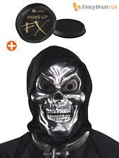 Skull Mask + Makeup Skeleton Halloween Grim Reaper Fancy Dress Costume Accessory
