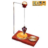 """1 Pendule de table """"Spy""""  en bois précieux et laiton (Voyance Radiesthesie)"""
