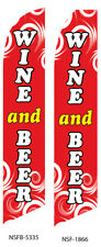 New listing Wine And Beer Flutter Feather Flag Swooper Advertising Sign Ba