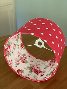 Handmade Lampshade Cath Kidston Red Spot lined with Rosali Fabric