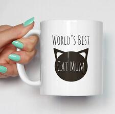 World's Best Cat Mum Mug   Funny Coffee Tea Mugs Cat Owner Pet Mugs