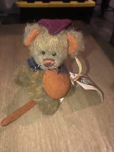 """The Cottage Collectibles By Ganz """"Meatball"""" Mouse 1997 Vintage New With Tags"""