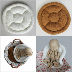 Round Shape Posing Mat Universal for All Baskets Newborn Baby Photography Props