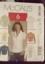McCALLS 5138 MISSES EASY PATTERN SIZE 6 8 10 12 UNCUT SHIRTS 6 Great Looks