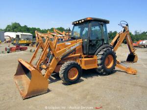 2011 Case 590 Super M 4x4 Backhoe Wheel Loader Cab Tractor Extendahoe bidadoo