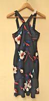 BNWT Ladies YOINS navy blue floral print dress size S (8/10) <TT864