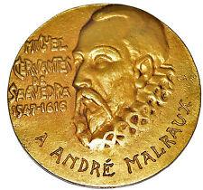 Medaille Miguel Cervantes/Don Quichotte de la Manche/I. Gallo / A. Malraux 1955