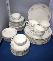 Gold Standard Genuine Porcelain China Dish Set 8 Ppl 48 Piece Pretty For Holiday